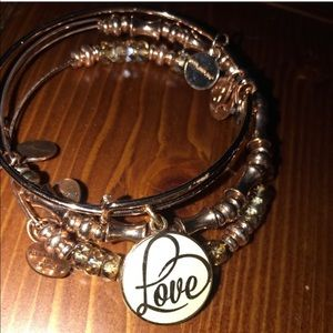 Alex and Ani Love Trio in Rose Gold